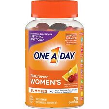One A Day WOMEN'S VitaCraves 70 GUMMIES MULTIVITAMIN MINERAL SUPPLEMENT Vitamin