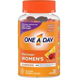 One A Day WOMEN'S VitaCraves 70 GUMMIES MULTIVITAMIN MINERAL SUPPLEMENT Vitamin