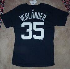 NEW MLB Justin Verlander Detroit Tigers Jersey Style T Shirt Men M Medium NWT