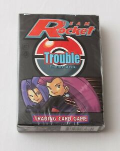 Pokemon Trading Card Game Team Rocket Trouble Theme Deck - Factory Sealed