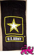 "Beach Blanket Towel Military U S Army Emblem 30""x60"" NEW 100% Cotton"