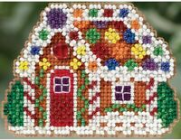 MILL HILL Winter Holiday ORNAMENTS Beaded Cross Stitch Kit GINGERBREAD COTTAGE