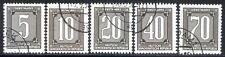 Germania DDR 1956 Servizio Corriere Centralizzato n. 1/5 usati (l461)