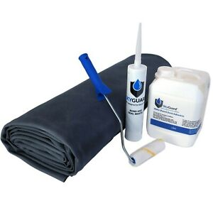 Shed Rubber Roof Kit, SkyGuard EPDM Membrane & Adhesive Replace Traditional Felt