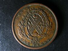 LC-9D2 One Penny token Deux sous 1837 Bas Canada Bank of Montreal Breton 521