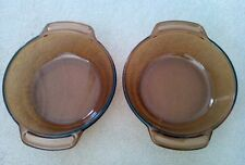 "Lot of 2 Vintage Anchor Ovenware Casserole Dishes 1.5 Qt. 8.25"" Diameter 1 Owner"