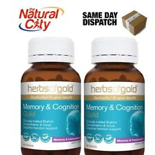 Herbs of Gold™ Memory & Cognition Gold Brahmi 60tabs x 2 Equates $39.95/ea
