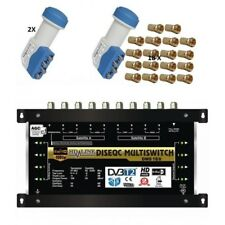 Multischalter 9/8 - 2 SATELLITEN / 8 Teilnehmer HDTV UHD 4K ✓ SAT Multiswitch