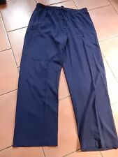 """Marks & Spencers women's navy blue XL elsticated trousers 39-41"""" waist 33"""" IL"""
