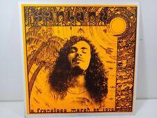 CARLOS SANTANA SAN FRANCISCO  DISCO  33 GIRI VINILE LP BOOTLEG RARO VINILE ROSSO