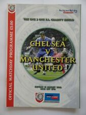 More details for chelsea vs manchester united   charity shield final programme   2000/2001