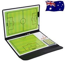 Magnetic Football Soccer Coach Coaching Aid Erase Clipboard Tactical Board AU