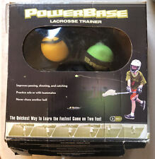 Sklz Powerbase Lacrosse Trainer Passing Shooting & Catching Outdoor Sports As Is