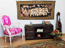 145x73 cm orient Asien Bild Kalagas Wandbehang wandteppich Burma Elefant  Nr-C
