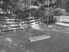 Old Time Child's Wood Tree Swing - Sinker Cypress
