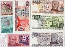12 Banconote  :  ARGENTINA / ALBANIA
