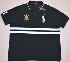 New 3XLT 3XL TALL POLO RALPH LAUREN Mens Big Pony Rugby shirt Black top RL 3XT
