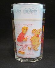 """Vintage Welch's Jelly Glass Archie Comic's  """"Hot Dog Goes To School"""" 1971"""