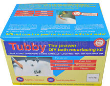TUBBY DIY WHITE BATH RESURFACING KIT SINK TILE BOAT FRIDGE ENAMEL