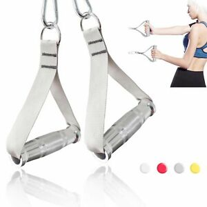 Fitness Heavy Duty Metal Handles Cable Machine Attachment Resistance Band