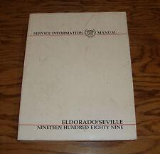 Original 1989 Cadillac Eldorado / Seville Service Shop Manual 89