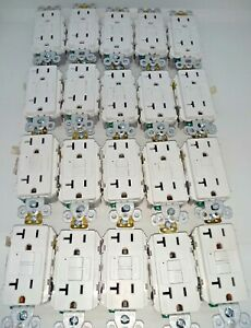 LOT OF 20 Legrand Pass Seymour 2097TRW Tamper Resistant GFCI 20A WHITE FREE SHIP