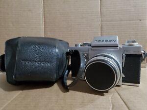 Topcon RE Super Camera w/ Topcor f 58 mm Re. Auto 1:1.8 Tokyo Kogart Silver Lens