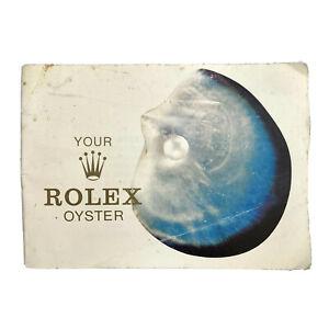 Vintage Rolex 1975 Your Rolex Oyster Booklet 579.07