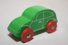 WOODEN WOOD VW VOLKSWAGEN BEETLE KAFER CAR GREEN EXCELLENT CONDITION.