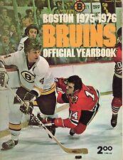 1975-76 Boston Bruins Yearbook Bobby Orr Brad Park