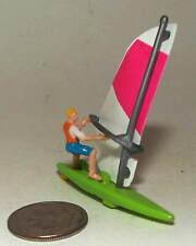 Micro Machine Plastic Wind Surfer with a Green Board