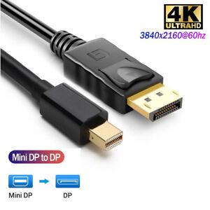 4K Mini DisplayPort DP to Display Port DP 6FT 1.8M Cable For MacBook Pro Air Mac