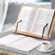 More details for bamboo receipe display cook book stand practical holder for books, ipads rest
