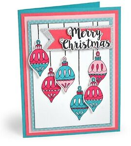 Sizzix Framelits Set CHRISTMAS CLASSICS 663670 Includes 9 Dies & Matching Stamps