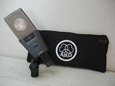 AKG C414 XLS CLASSIC LARGE DIAPHRAGM CONDENSER MICROPHONE WITH CLIP AND POUCH
