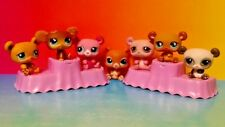 7 Panda Bears Littlest Pet Shop RARE LPS Lot 100% Authentic 899 2468 855 1092
