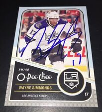 WAYNE SIMMONDS SIGNED AUTOGRAPHED 2011/12 O-PEE-CHEE #218 CARD NEW JERSEY DEVILS