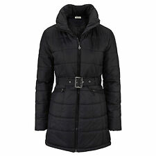 WARM WINTERMANTEL Kapuze Gr.36 S STEPPMANTEL Mantel JACKE SCHWARZ STEPPJACKE