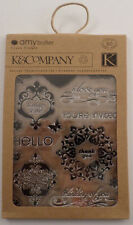 K & Company Lotus Greeting Set Flower Clear Cling Rubber Stamp