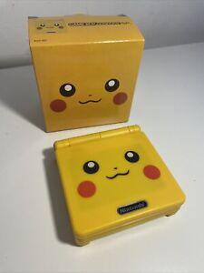 Nintendo Game Boy Advance SP AGS 101 Pikachu BACKLIT LCD SCREEN REFURBISHED