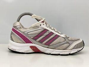 Adidas Duramo 2 Womens White And Pink Mesh Trainers UK Size 5