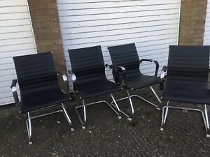 Joblot Chrome Executive Office Chair 4sets Used