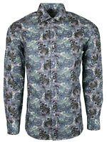 Floral Multicolor Hombre Fiesta Vestido Casual Mod 60s Camisa ahora (477)