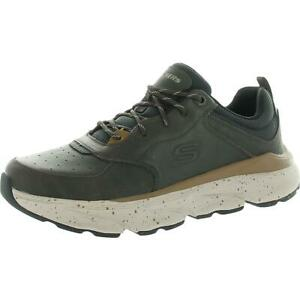 Skechers Mens Delmont-Rorimer Leather Fitness Trainers Sneakers Shoes BHFO 5369