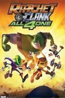 Video Game Inspired Video Game Art Poster Ratchet and Clank Splatter