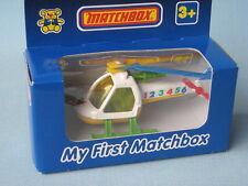 Mi Primer Matchbox Helicóptero Tailandia Base En Caja De Juguete Modelo Rescate