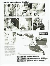 Publicité Advertising 067  1970  rasoir éléctrique Philips  porte Maillot Paris