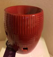 Brand New in Box Scentsy Weave Scarlet, discontinued, mini warmer, red