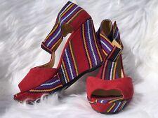 Black Guatemalan Platform Wedge Heels, sandal, guatemalan wedge, textile heals