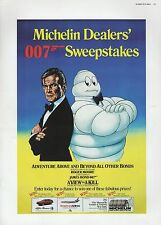 "2002 Vintage JAMES BOND ""MICHELIN 007 SWEEPSTAKES"" US MINI POSTER ART Lithograph"